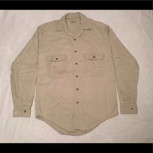 Vintage 90s LL Bean Long Sleeve Button Down Shirt